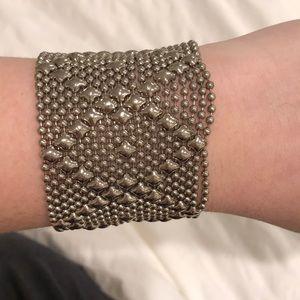 Sergio Gutirrez Silver Liquid Metal Mesh Bracelet